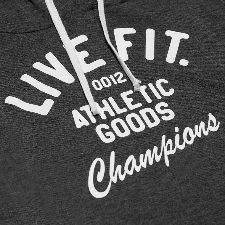 Live Fit Apparel Champions Crop Hoodie - Charcoal - LVFT