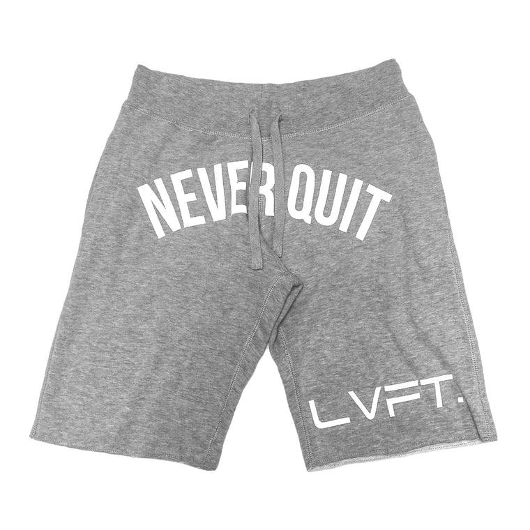 Never Quit Sweat shorts- Heather Grey