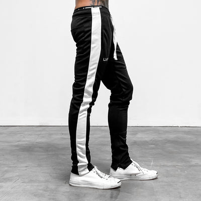 Reflective LVFT. Slim Trackies - Black/White