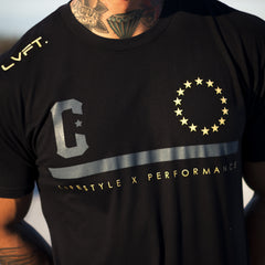 Affinity Tee- Black/Gold