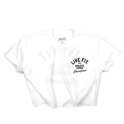 Athletic goods Crop Tee -White