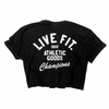 Athletic goods Crop Tee - Black/White