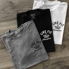 Live Fit Apparel Athletic Goods Tee - Black - LVFT