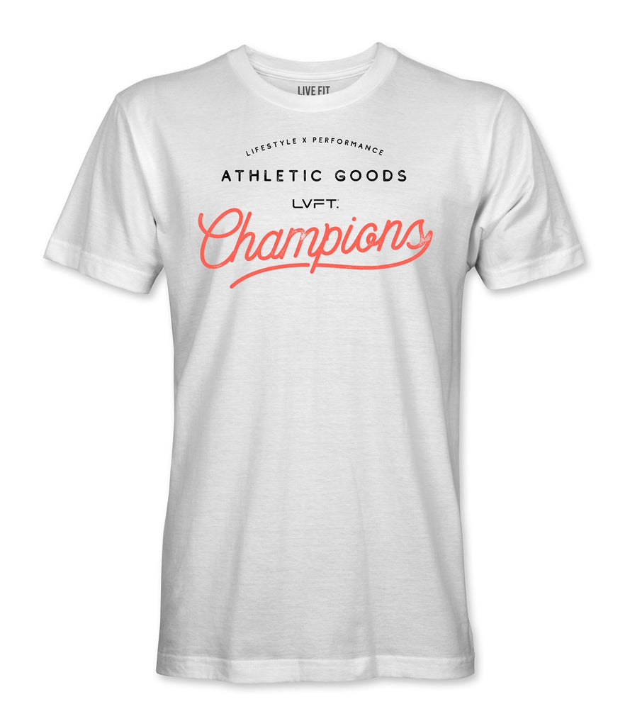 Live Fit Apparel Champion Tee - White - LVFT