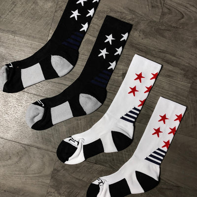 Live Fit Apparel All-Star Crew Socks - White - LVFT