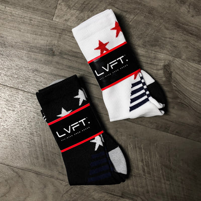 Live Fit Apparel All-Star Crew Socks - Black - LVFT
