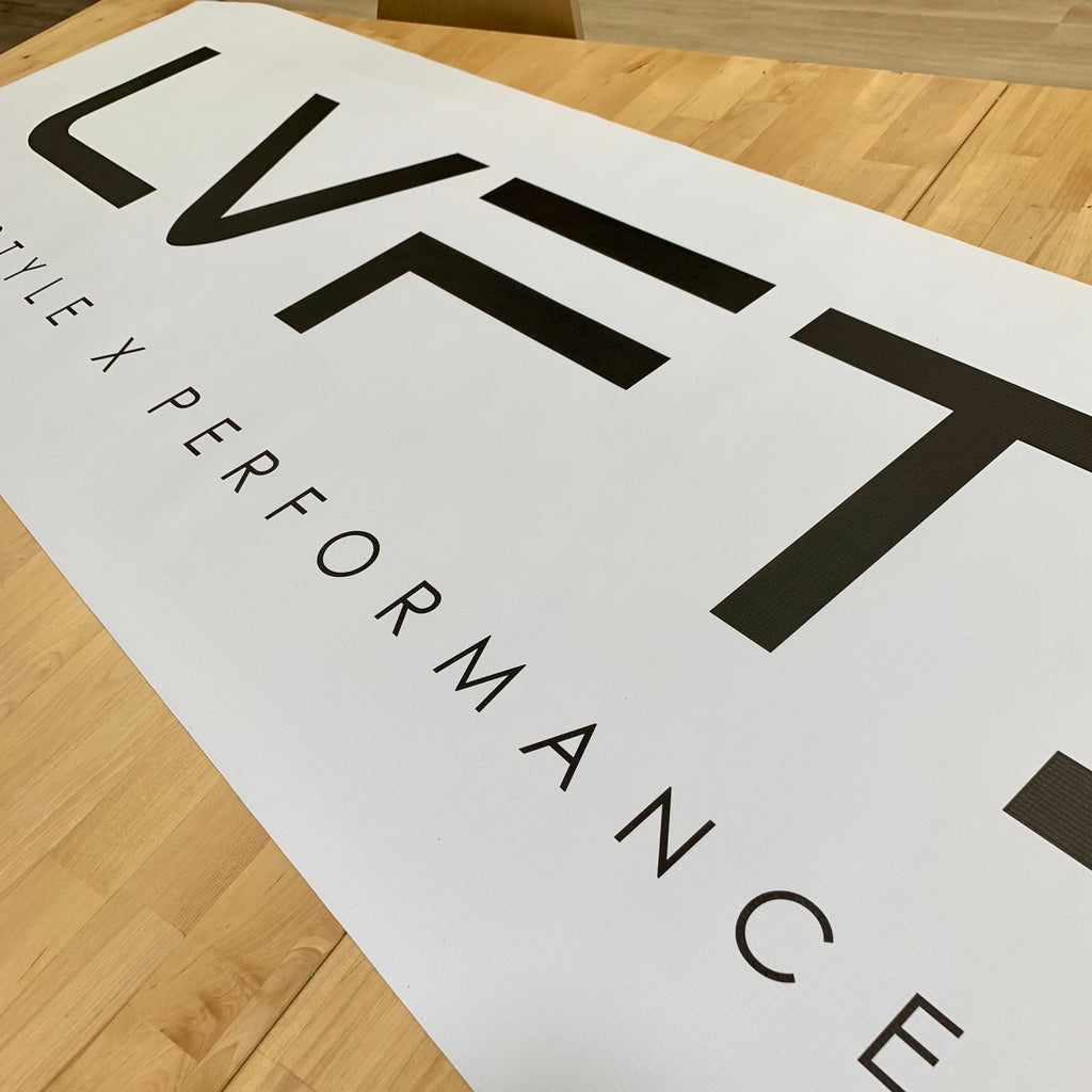 Live Fit Apparel LVFT Vinyl Banner - White - LVFT