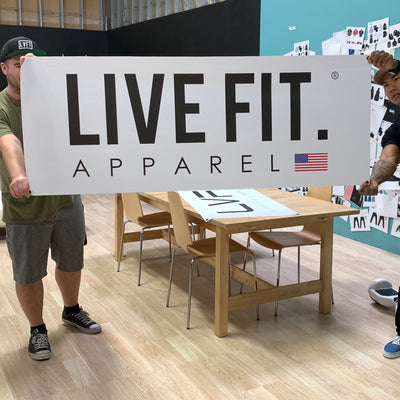 Live Fit Apparel Live Fit  Vinyl Banner - White - LVFT