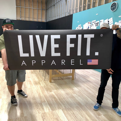 Live Fit Apparel Live Fit  Vinyl Banner - Black - LVFT
