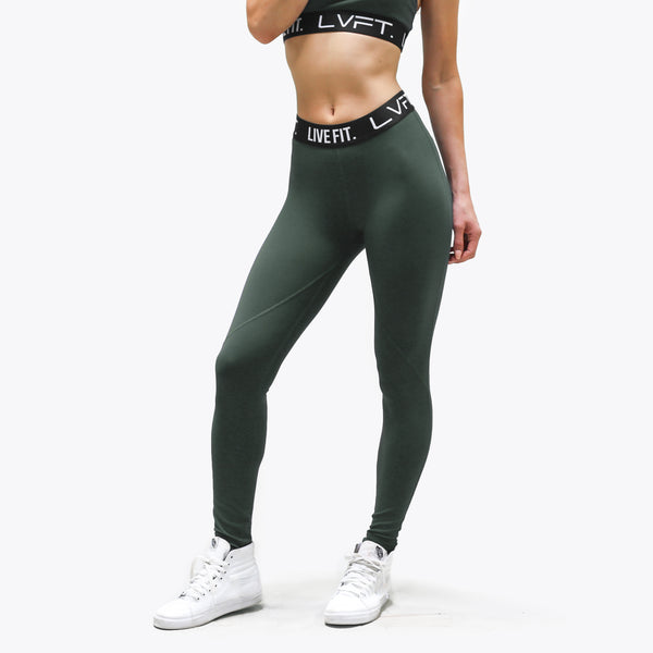 Retro Boom Leggings- Stone Green