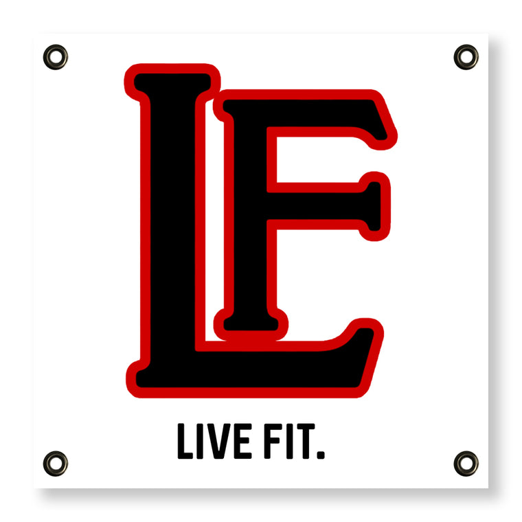 Live Fit Apparel LF Classic Banner - White - LVFT