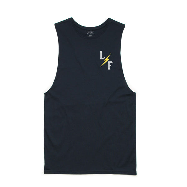 Varsity L/F Long Cut Off- Navy
