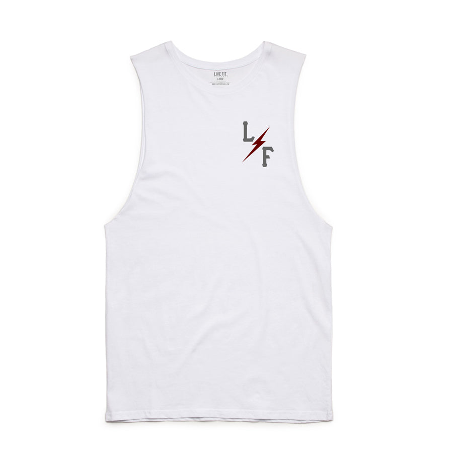 Varsity L/F Long Cut Off- White