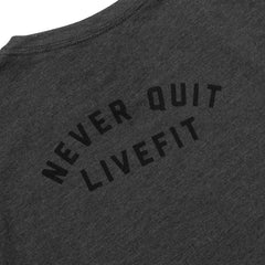 Never Quit Womens- Charcoal/Black