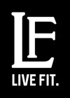 Live Fit Apparel LF Sticker - Black - LVFT