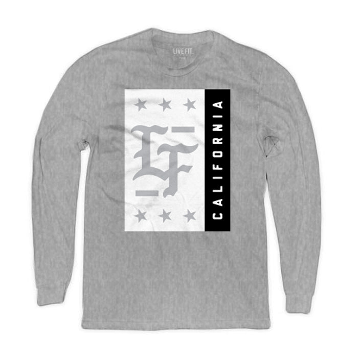 Stamped Long Sleeve- Heather Grey