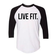 Live Fit. Baseball Raglan - White/Black