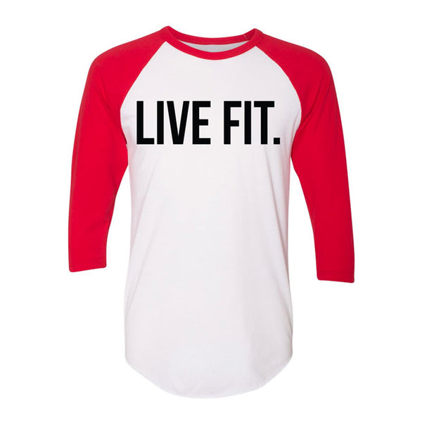 Live Fit. Baseball Raglan - White/Red