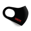 Live Fit Face Mask - Black/ Red