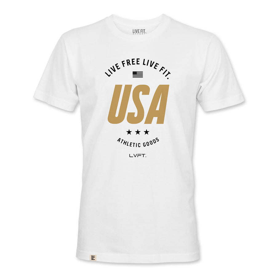 Live Fit Apparel Live Free Tee - White - LVFT