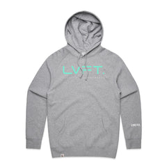 Live Fit Apparel Lifestyle Hoodie - Heather Grey / Teal - LVFT