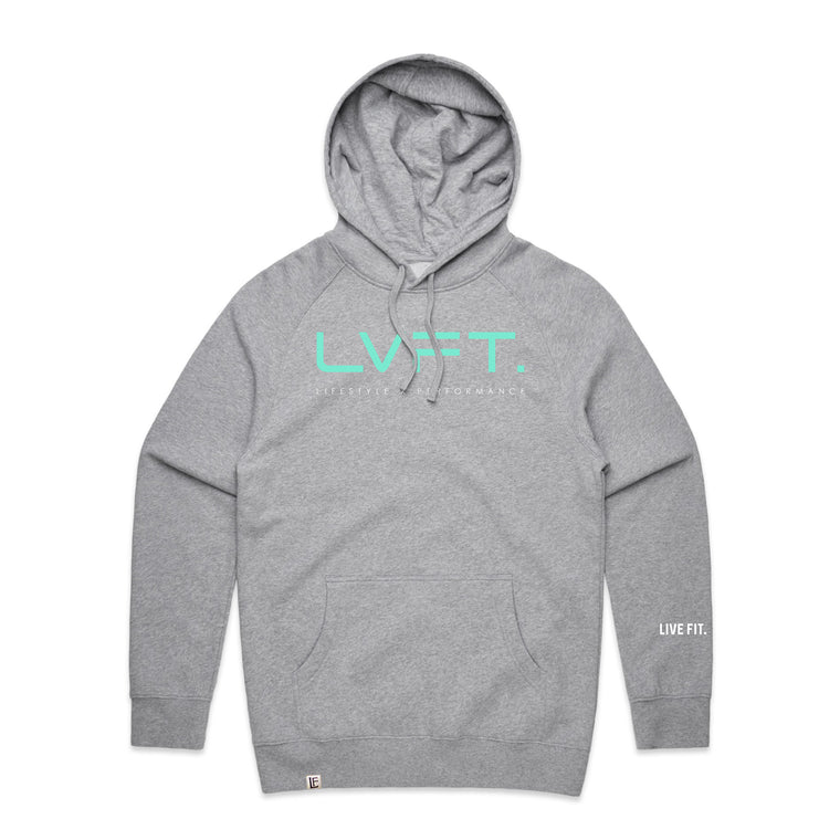 Lifestyle Hoodie - Heather Grey / Teal