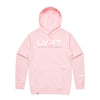 Live Fit Apparel Lifestyle Hoodie - Pink / White - LVFT