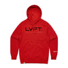 Live Fit Apparel Lifestyle Hoodie - Red / Black - LVFT