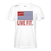 LVFT Flag Tee - White/Red