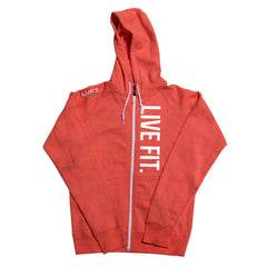 Live Fit Zip Up - Coral
