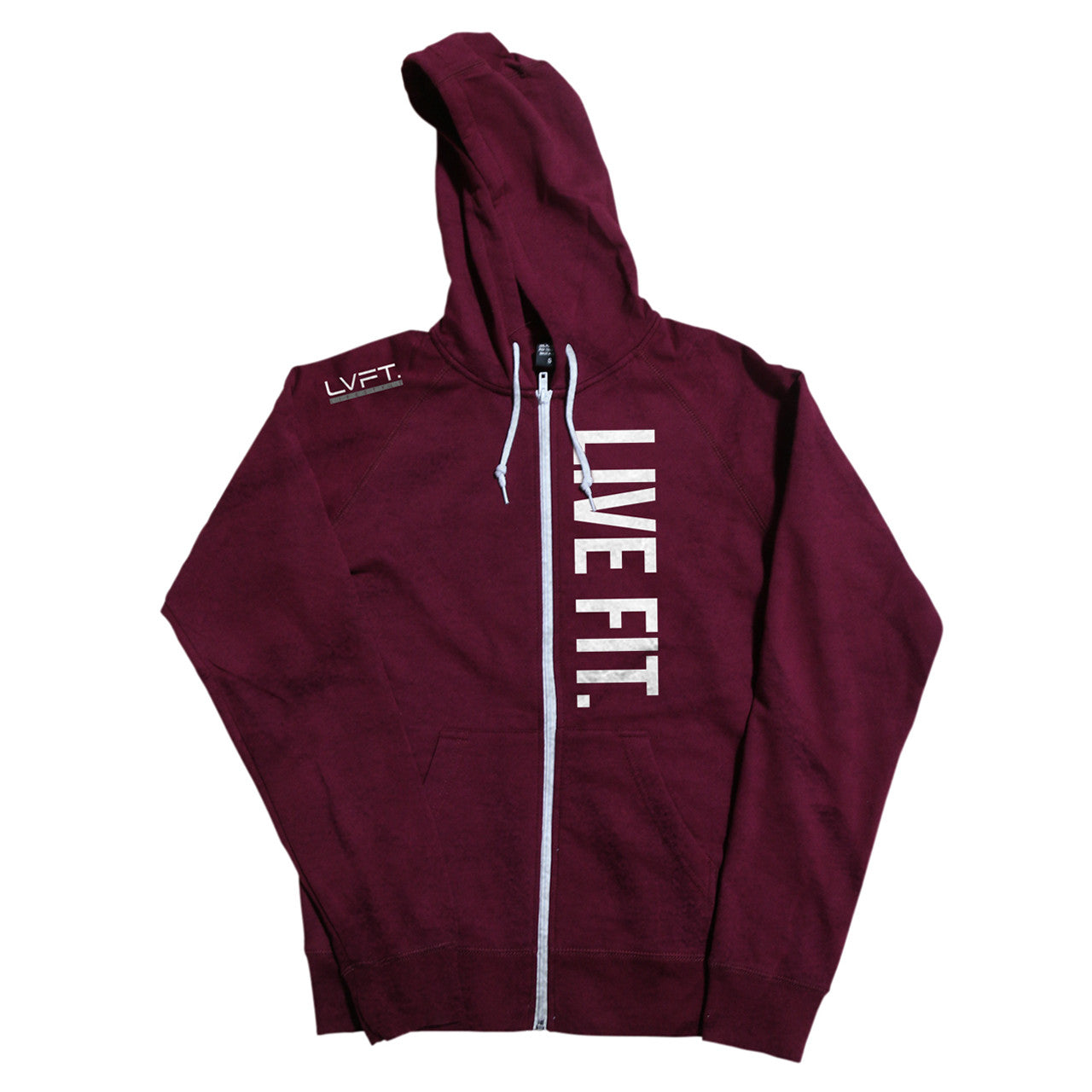 Live Fit Zip Up - Burgundy