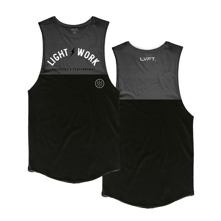 Light Work Split Tank - Black/Charcoal