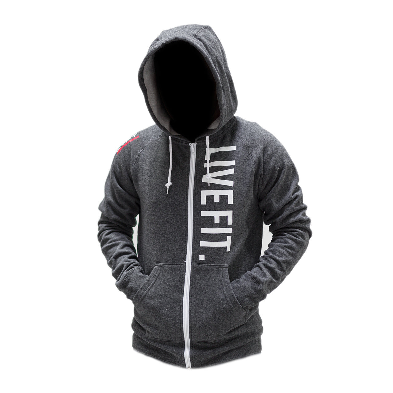 Live Fit Zip Up - Charcoal