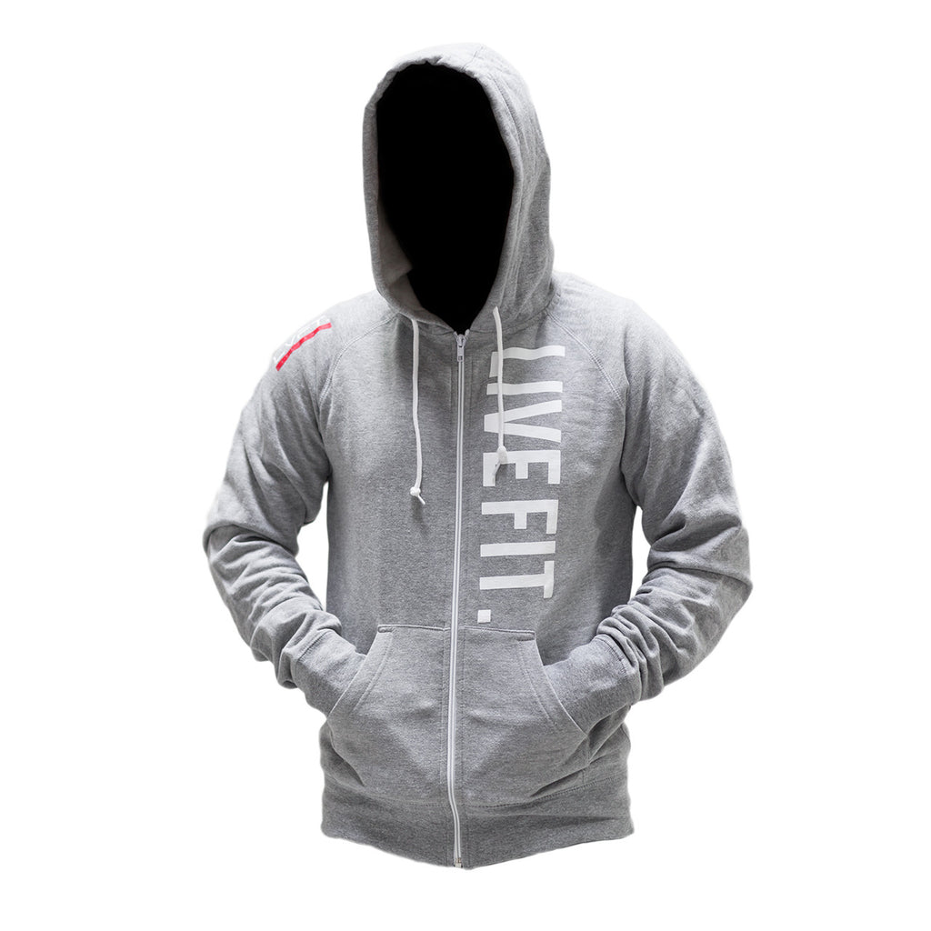 Live Fit Zip Up - Heather Grey
