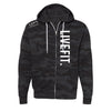 Live Fit Zip Up - Black Camo
