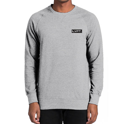 Live Fit Apparel Modern Crewneck- Asphalt Heather - LVFT