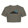 Women's Mountain Tee - Ash Grey/ Black