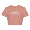 Women's Mountain Tee - Pink/White