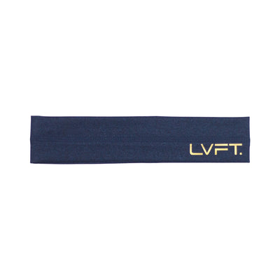 Live Fit Apparel Gold Edition Headband - Navy - LVFT