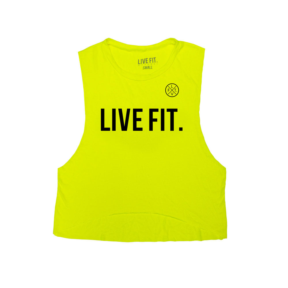 Live Fit Muscle Tank -  Neon