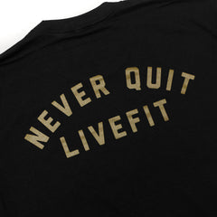 Never Quit Tee- Black/Gold