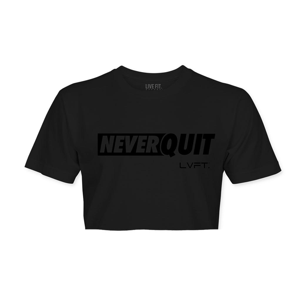 NQ Motto Crop Tee - Black
