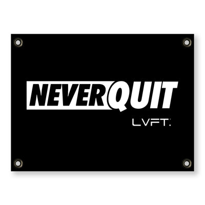 Live Fit Apparel Never Quit Banner - LVFT