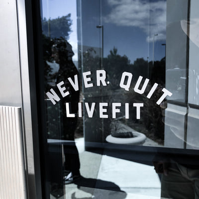Live Fit Apparel Never Quit Decal - LVFT