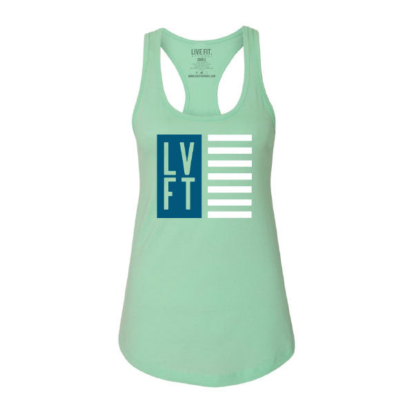 Nation Women's Racerback - Mint