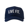 Live Fit Apparel Original Premium Structured Cap -  Navy/White - LVFT