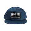 Live Fit Apparel Globe Unconstructed Snapback- Navy - LVFT