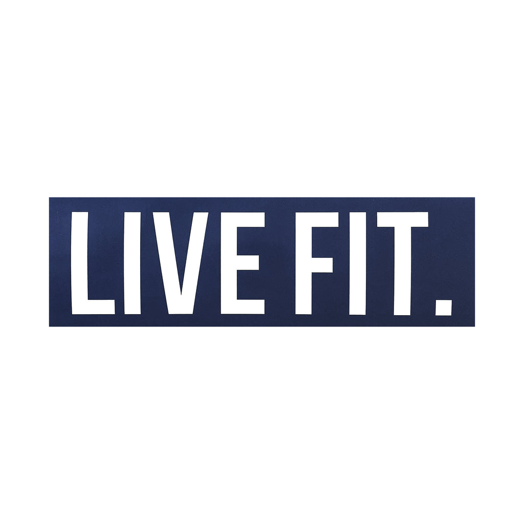 "Live Fit Apparel Live Fit. 8""  Sticker - Navy - LVFT"