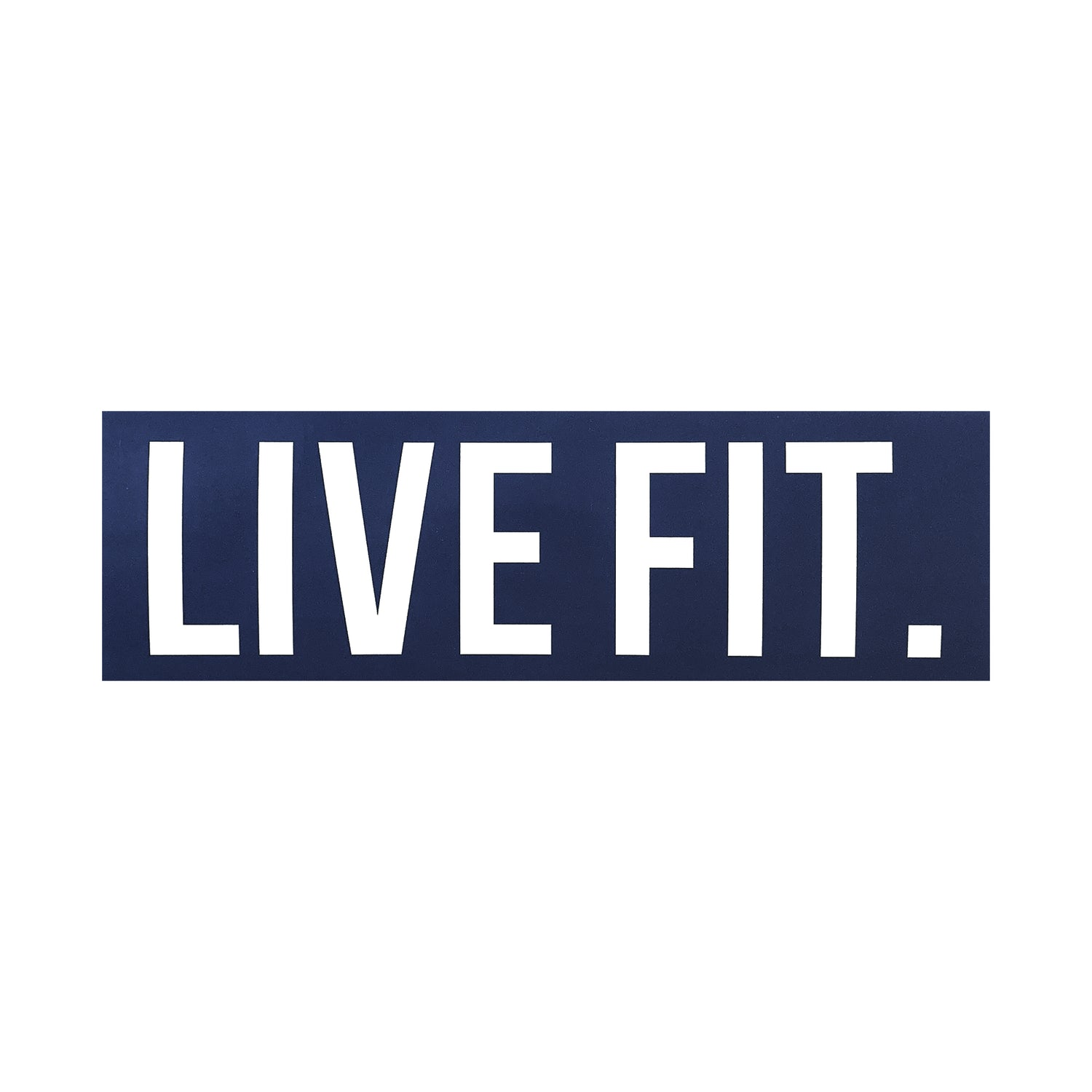 "Live Fit. 8""  Sticker - Navy"