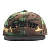 Never Quit Snapback - Green Camo / Black